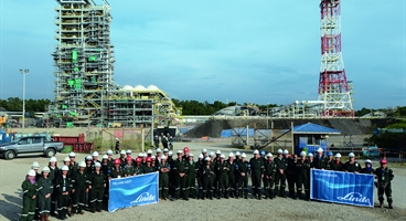 Panoramic view of the mid-scale Liquefied Natural Gas (LNG)